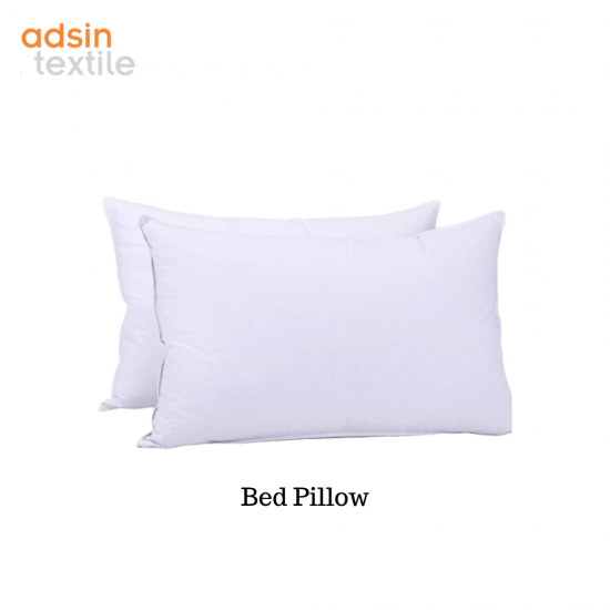 Adsin Extra Filled Bounce Back Hollowfibre Jumbo Bed Pillows and Hotel Quality Standard Pillow White
