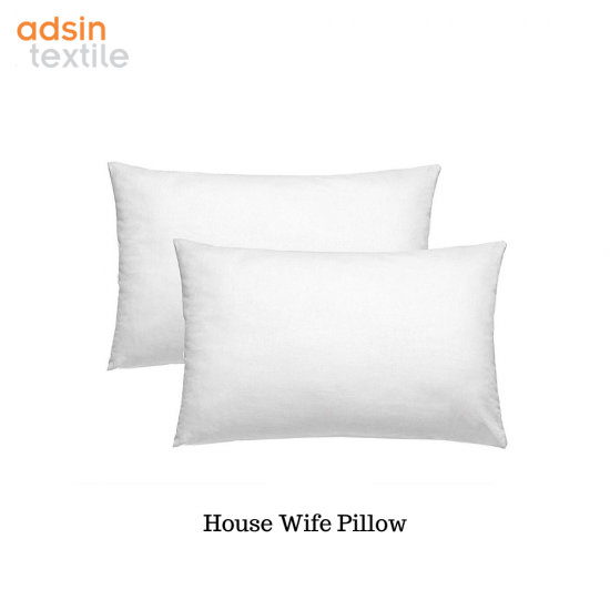 Hollowfibre Luxury Standard Housewife Pillow Bedding Polycotton Size Pack 2 4 8