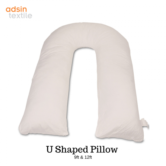 Adsin 9ft & 12ft U-Shape Total Body Comfort Pillow Pregnancy & Maternity Orthopedic Back & Neck Nursing Support Long Cuddly