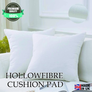 "Adsin 18""x18"" Microfibre Cushion Inners Pad Stuffer White Polycotton Ballfibre Polyester Insert Square Anti Allergy"