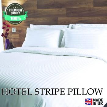 Hollowfibre Hotel Satin Stripe Pillow Soft